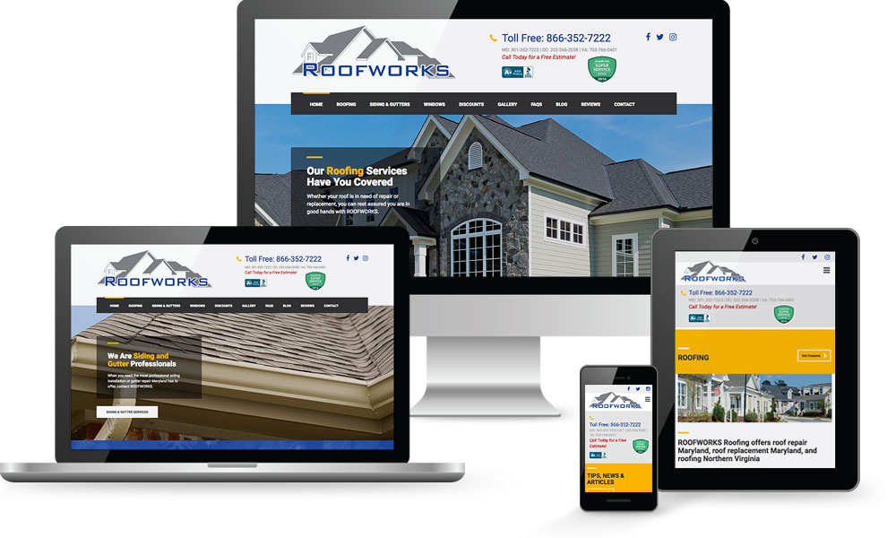 Roofworks Website Design